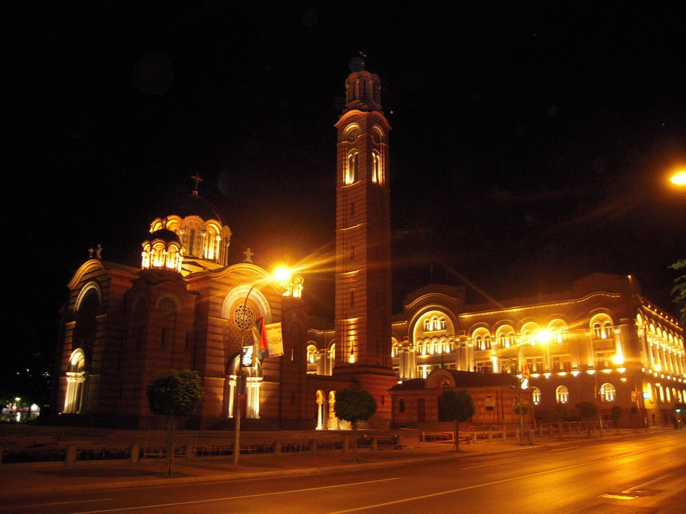 Banja Luka Cathedral in the night | @ Rade Nagraisalović