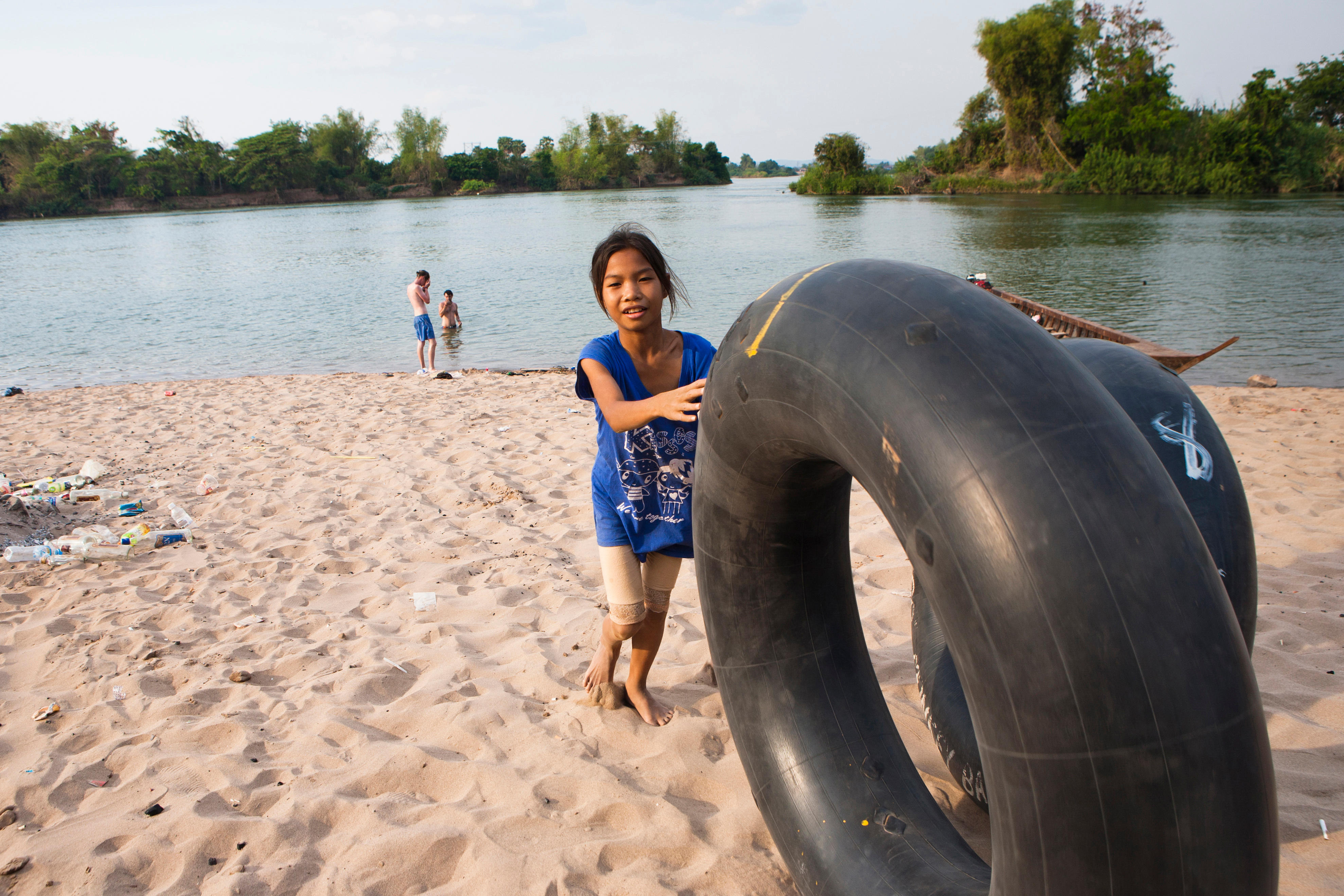 The island of Don Det is an upcoming backpacker stop on the Mekong River along the Cambodia and Laos border. Tubing around the islands is a popular activity and a great way to catch a sunset.