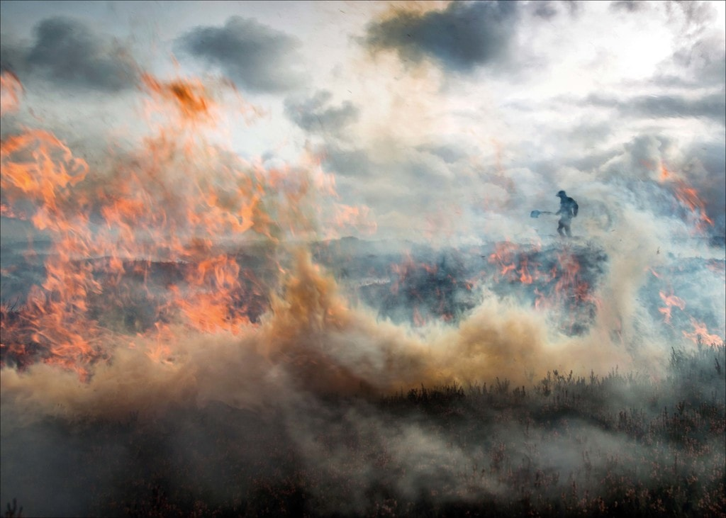 Jon Brook, Burning the Moor on Burn Moor, Lancashire Noth Yorkshire Border, 2017 | Courtesy of Landscape Photographer of the Year 2017