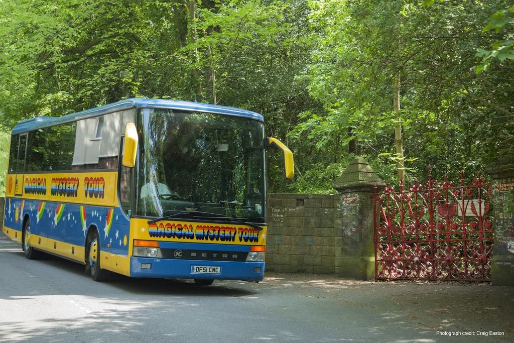 Magical Mystery Tour bus - Strawberry Fields
