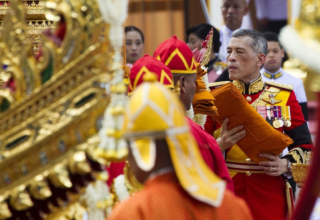 Thai King Maha Vajiralongkorn Bodindradebayavarangkun takes part in the ceremony | © Pongmanat Tasiri/EPA-EFE/REX/Shutterstock