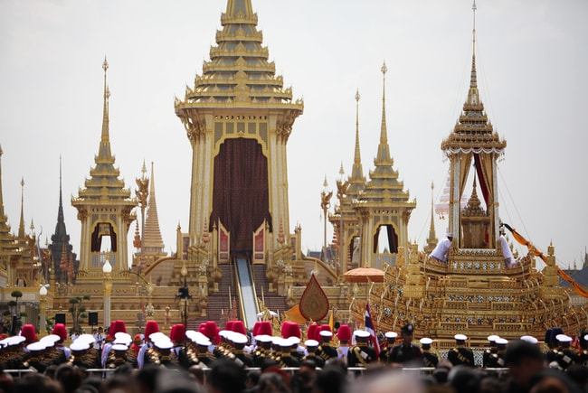 King Bhumibol Adulyadej's royal cremation ceremony, Bangkok, Thailand | © Panupong Changchai/Pacific Press via ZUMA Wire/REX/Shutterstock