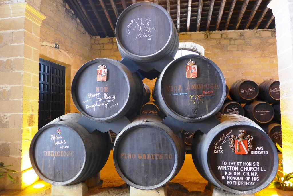 Sherry barrels at Gonzales Byass, Jerez de la Frontera, Spain | ©Ewan Munro / Flickr