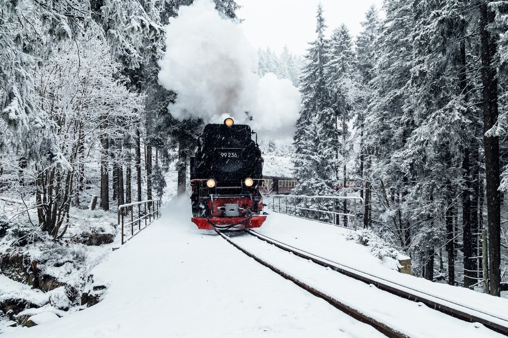 Black steam railway, Harz, Germany