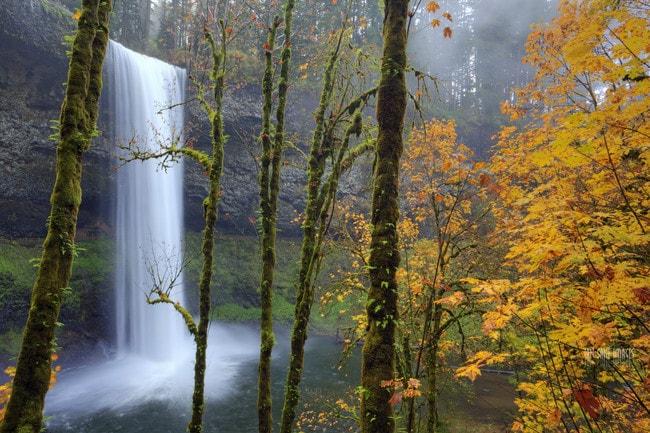 South Falls at Silver Falls State Park   © Ian Sane / Flickr