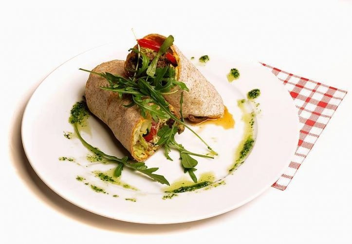 Vegetarian wrap at Pygmalion Økocafe & Galleri | Courtesy of Pygmalion Økocafe & Galleri