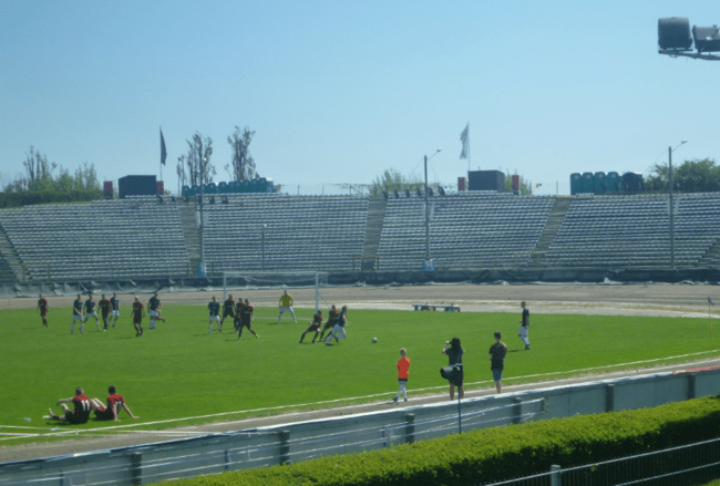 Watch football in a Speedway Stadium