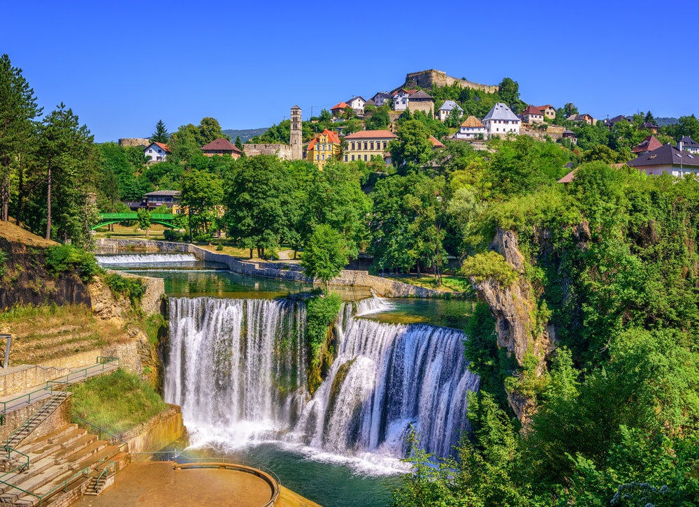 Jajce town in Bosnia and Herzegovina, famous for the beautiful Pliva waterfall | © Boris Stroujko/Shutterstock