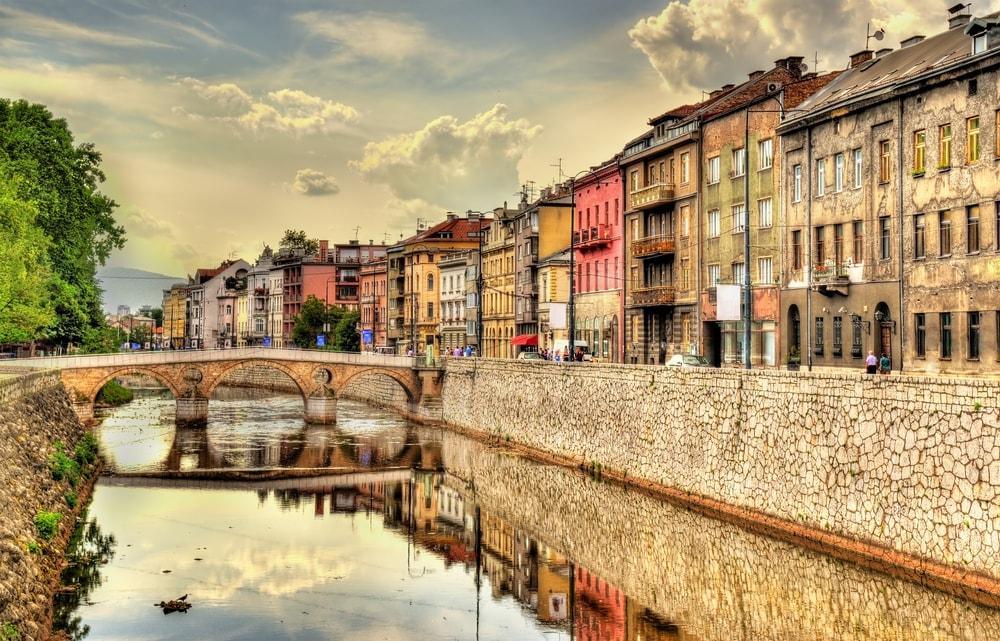 View of the historic centre of Sarajevo - Bosnia and Herzegovina   © Leonid Andronov/Shutterstock