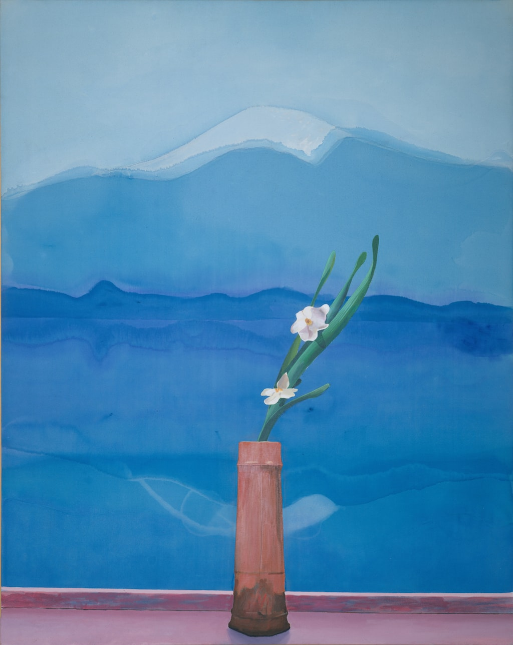 David Hockney, 'Mt. Fuji and Flowers', 1972 | © David Hockney
