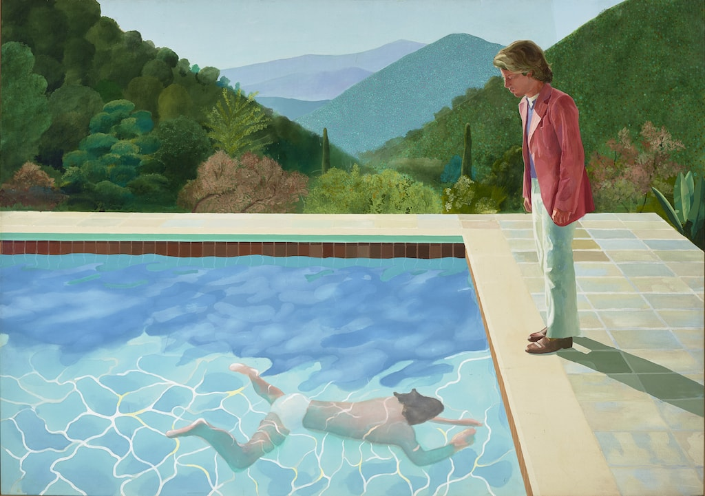 David Hockney, 'Portrait of an Artist (Pool with Two Figures)', 1972 | © David Hockney and Art Gallery of New South Wales / Jenni Carter