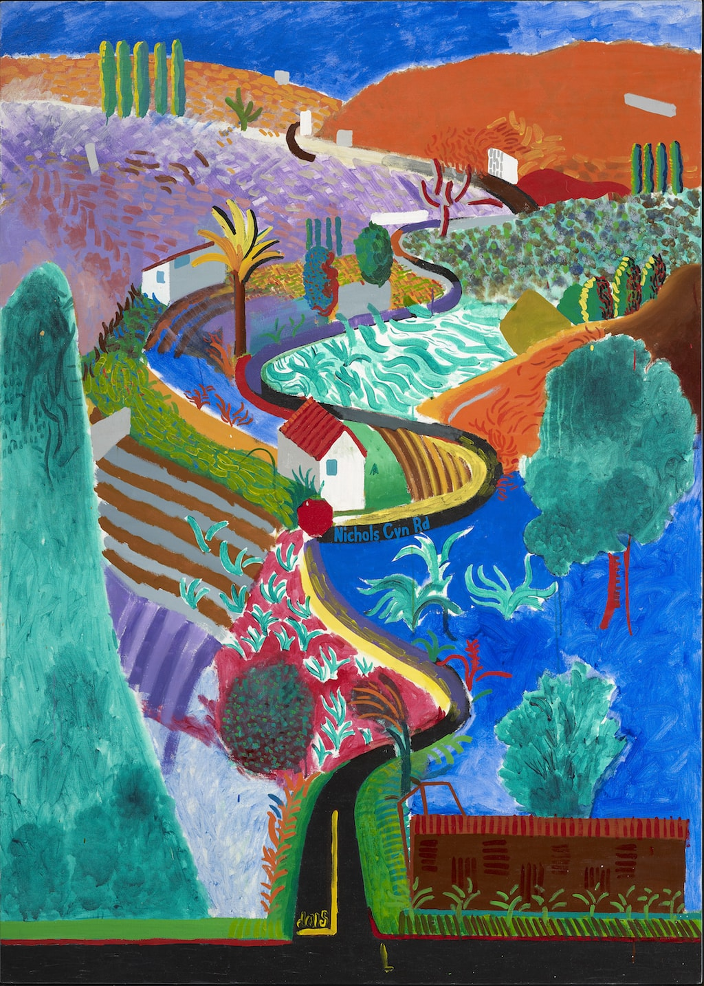 David Hockney, 'Nichols Canyon', 1980 | © David Hockney / Pru Cumings Associates Ltd.