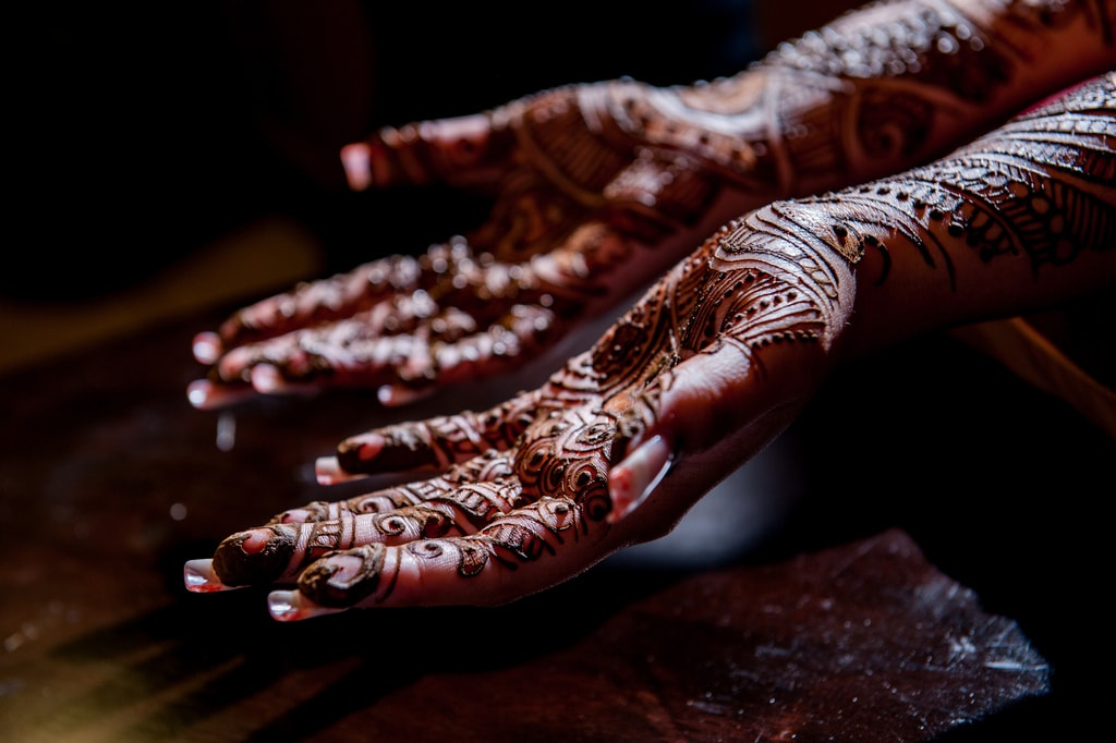 Henna hands and arms