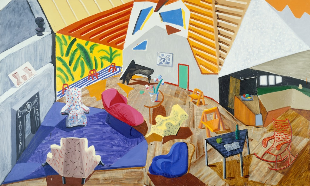 David Hockney, 'Large Interior, Los Angeles', 1988 | © David Hockney