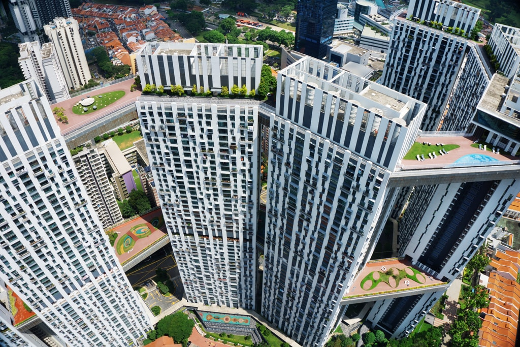 Aerial view at The Pinnacle@Duxton | © Darren Soh/Courtesy of Singapore Tourism Board
