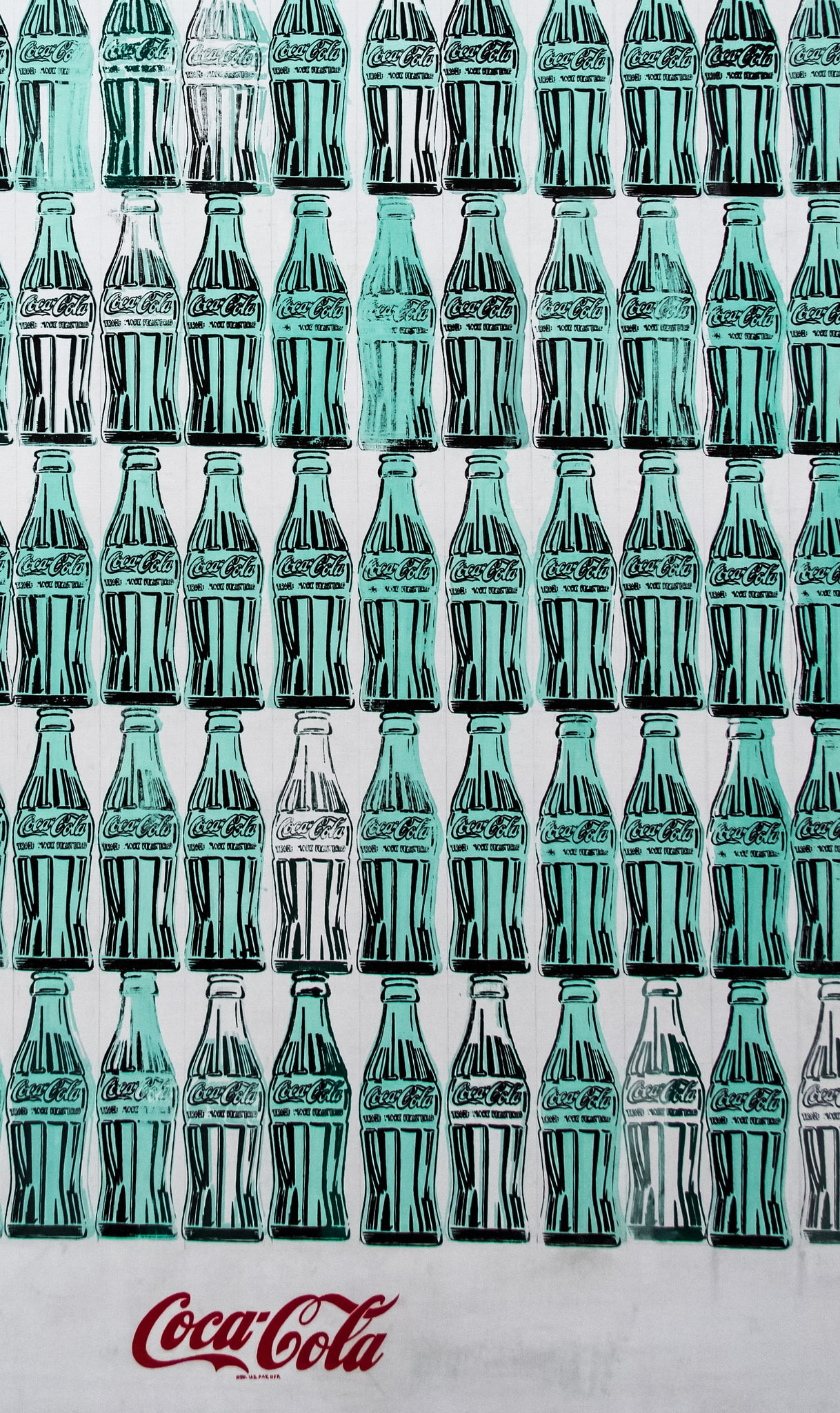 Detail - Green Coca-Cola Bottles (1962)   Photo by Andrew Moore via Flickr