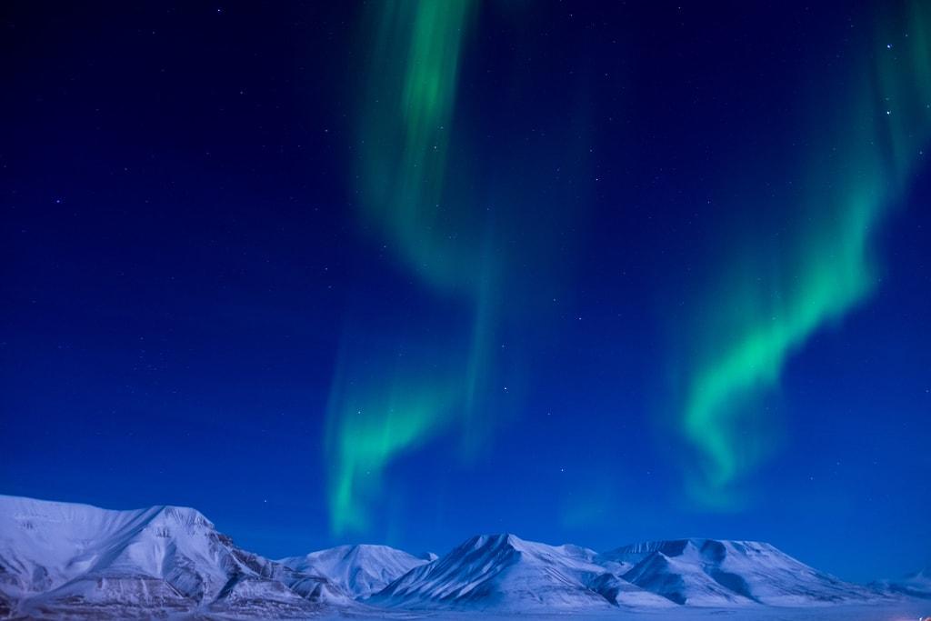 Northern Lights on Svalbard   © Frode Ramone / Flickr