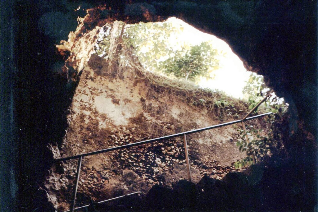Entrance to the slave cave