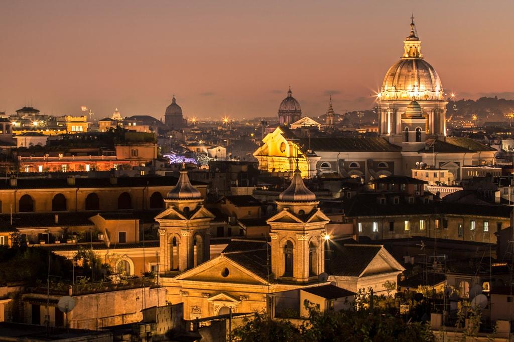 The Rome skyline at night   © Дмитрий Бондарев/Flickr