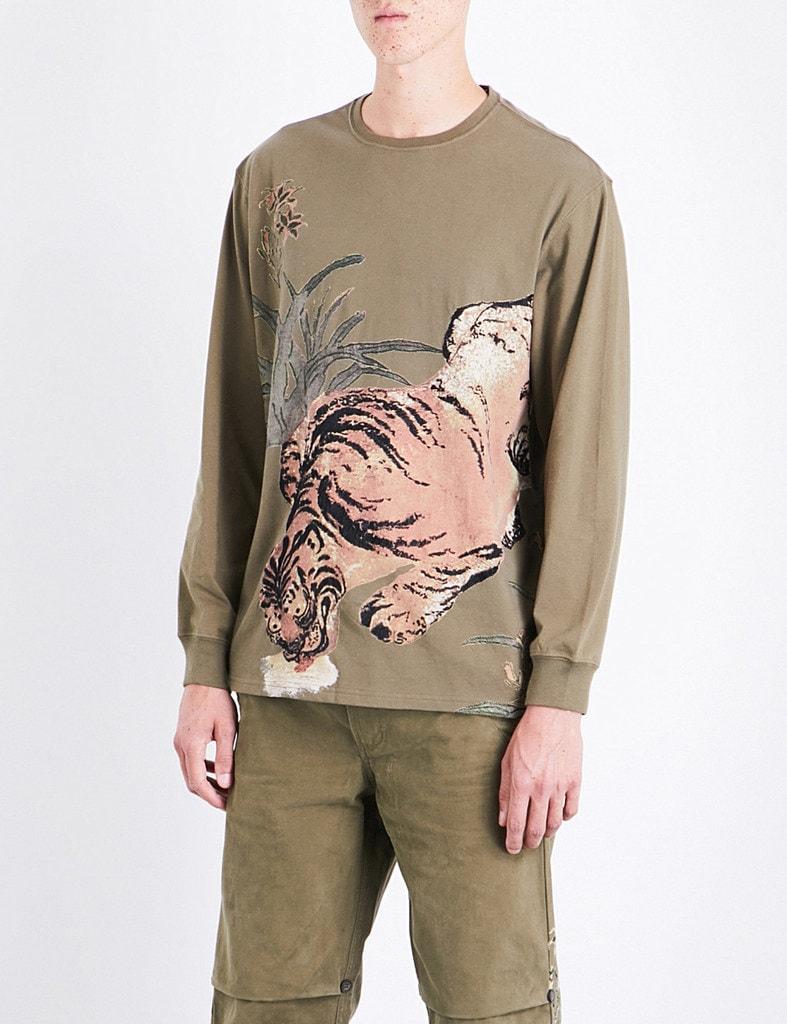Maharashi tiger print t-shirt, £205