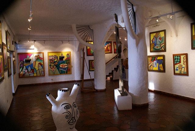 The museum in Casapueblo with works of art by Carlos Paez Vilaro