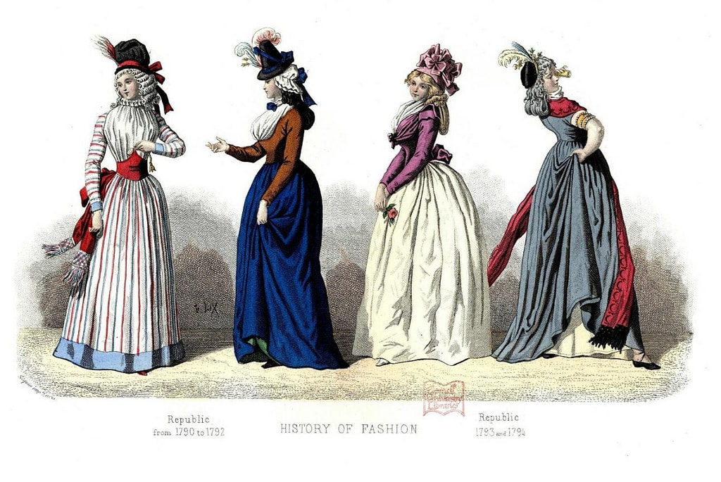 French fashion turn of the 18th Century