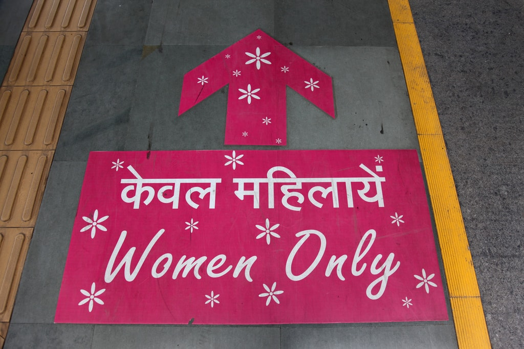 Signage at the Delhi Metro