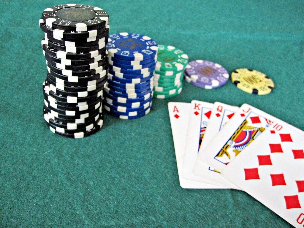 Casino chips and cards