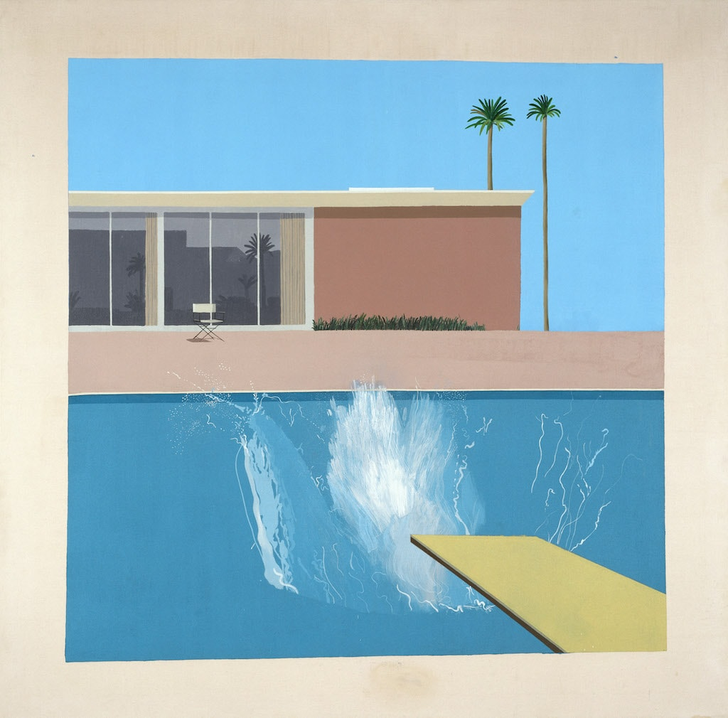 David Hockney, 'A Bigger Splash', 1967 | © David Hockney and Tate, London 2017