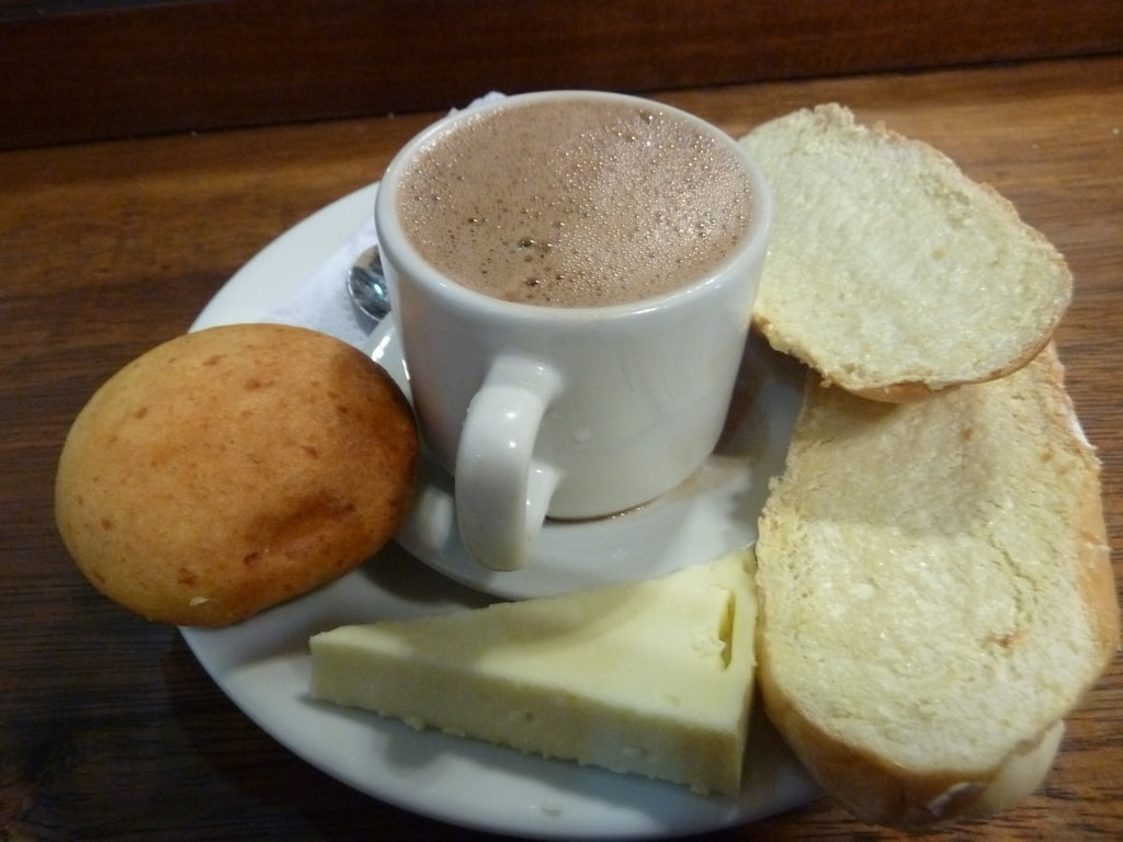 Hot chocolate with cheese!