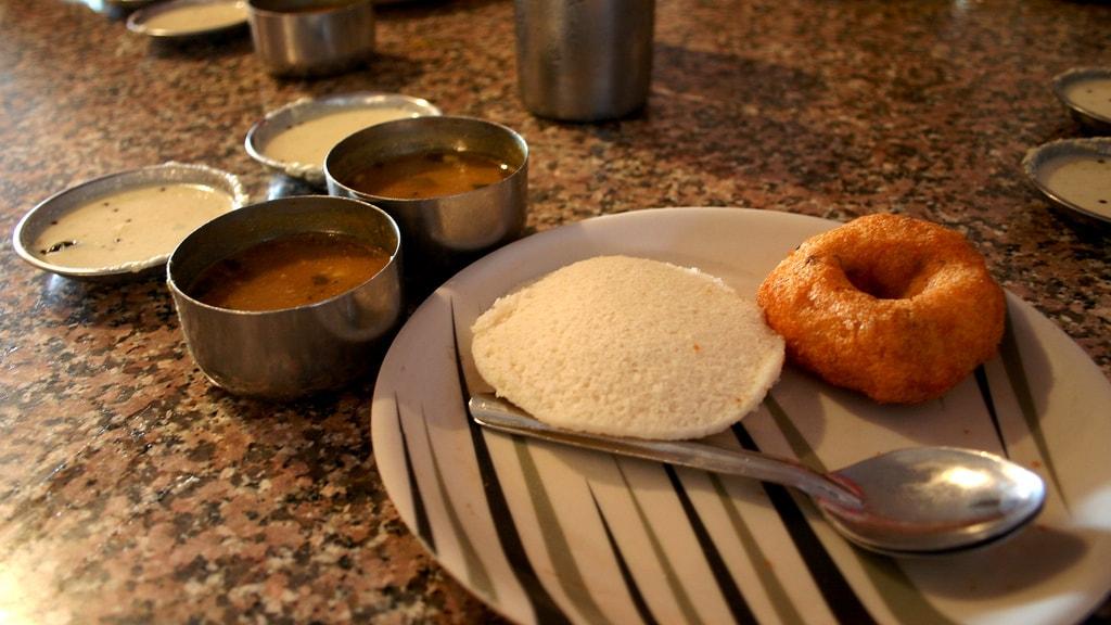 Breakfast at Andhra Bhavan