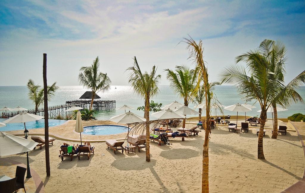 Beachfront resort in Zanzibar