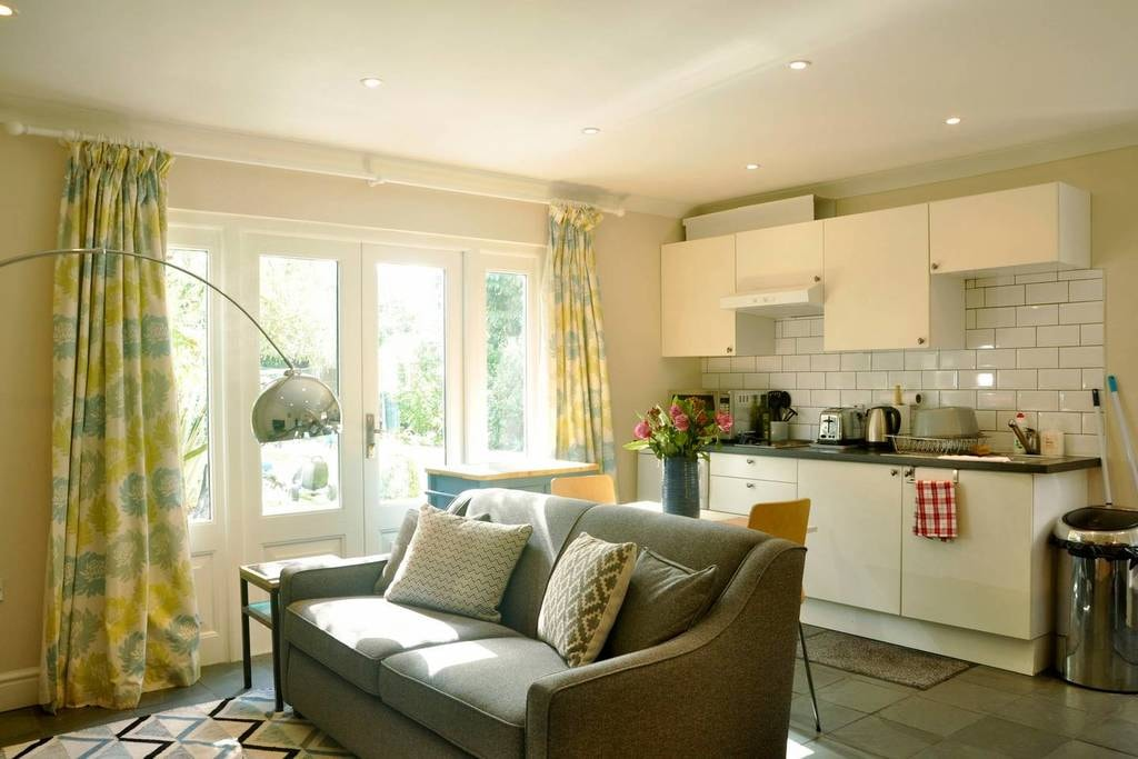 Bright and airy living space
