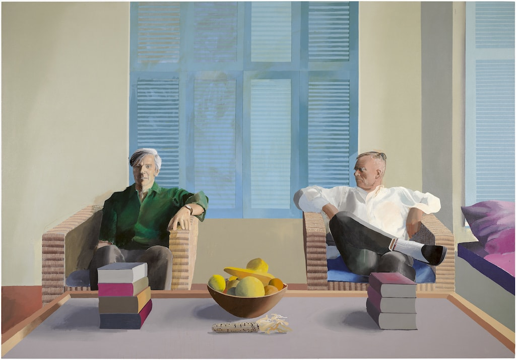 David Hockney, 'Christopher Isherwood and Don Bachardy', 1968 | © David Hockney
