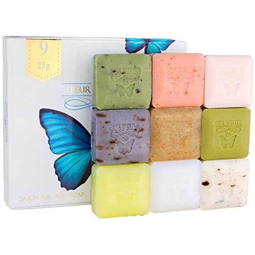 French-Milled Soap Soaps, Box Set of 9 | Courtesy of Amazon