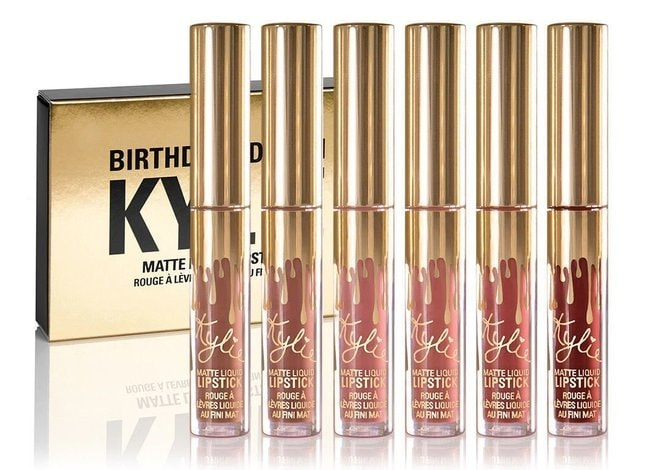Kylie Jenner Limited Birthday Edition Kylie Matte liquid Lipstick Set Cosmetics | Courtesy of Amazon