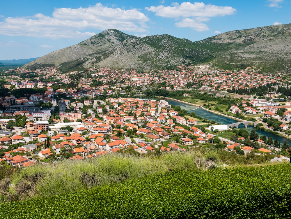 View of Trebinje in Bosnia and Herzegovina, from Crkvina Hill| © Photokanto/Shutterstock