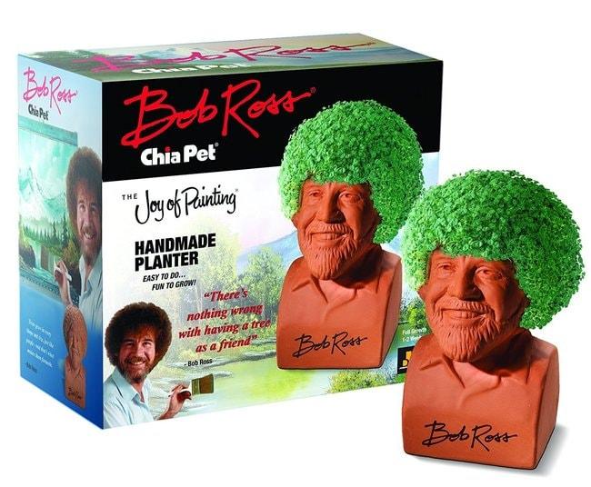 Bob Ross Chia Pet handmade planter, via Amazon