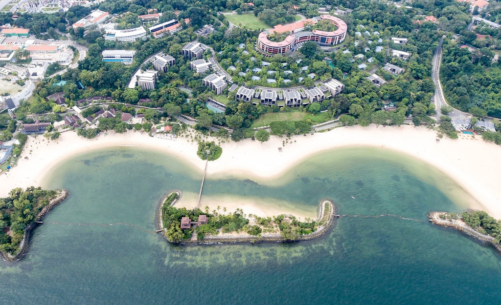 Aerial Photography of Palawan Beach