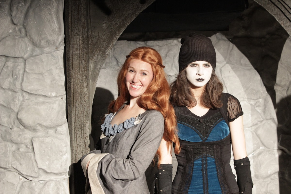 Allison Lobel, Meghan Modrovsky as Sansa and Goth Arya