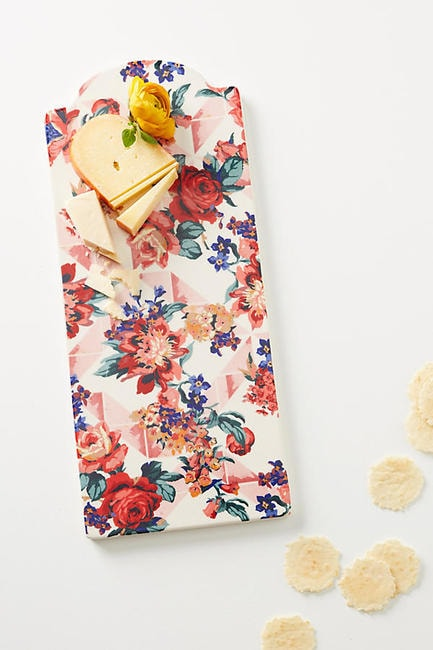 Liberty for Anthropologie Geo Paradise Garden Cheese Board | Courtesy of Anthropologie