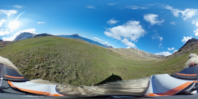A view from one of the 360-degree cameras attached to a sheep | Courtesy of visitfaroeislands.com