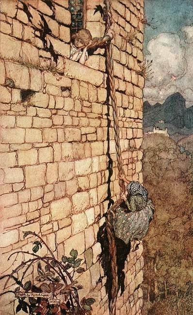 Arthur Rackham - Rapunzel | WikiCommons