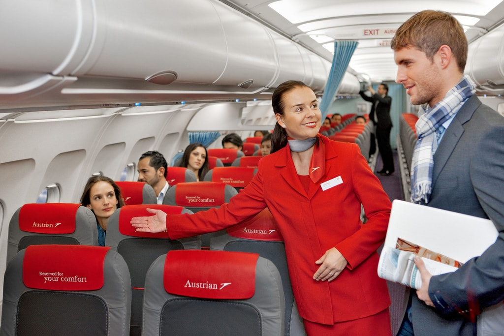 Air stewards really are there to help | © Austrian Airlines / Flickr