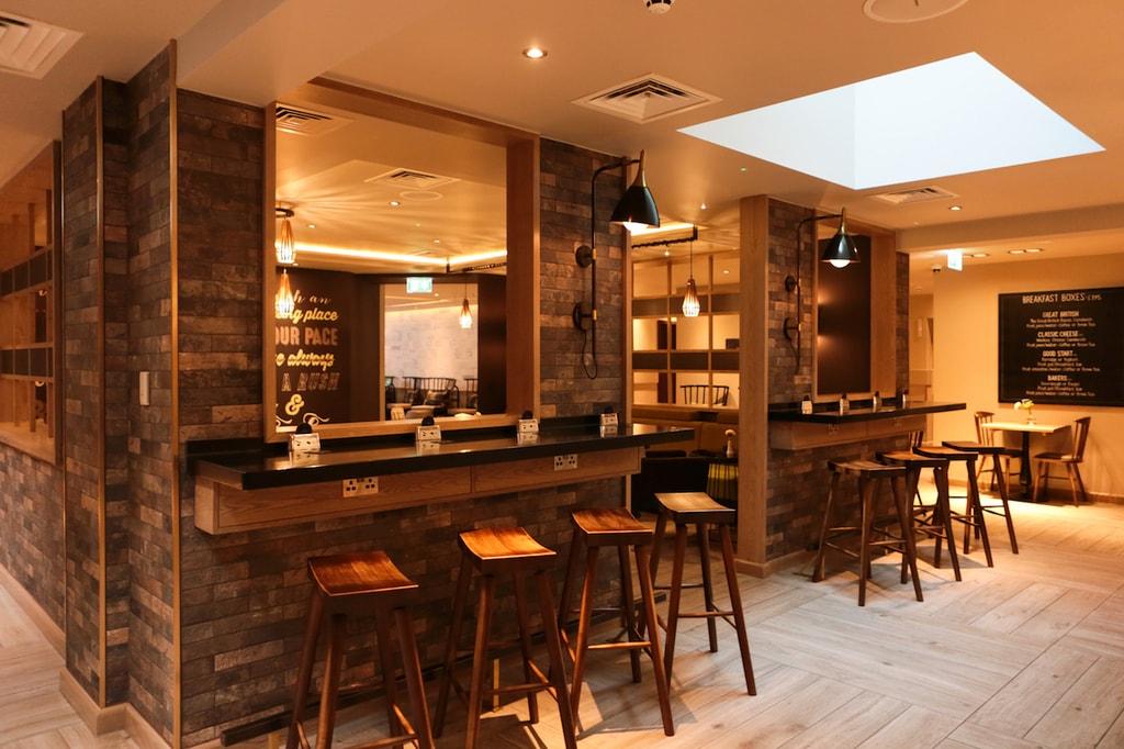 Breakfast bar at hub by Premier Inn London Spitalfields | © Courtesy of Premier Inn