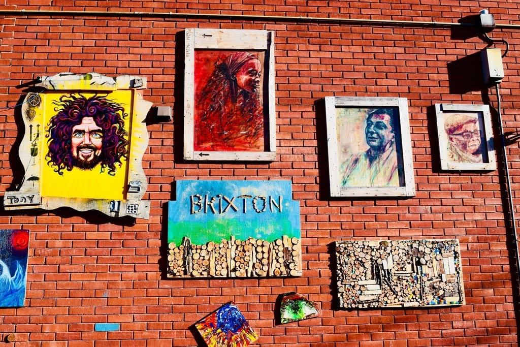 Colourful homages to Brixton's community © Angie Quinn