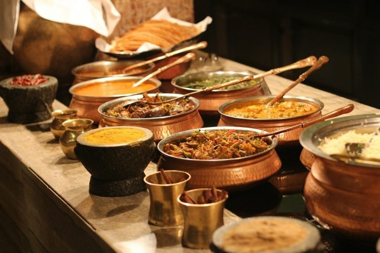 Different dishes of Indian food