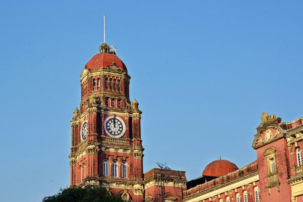 Colonial-Clocktower-in-Yangon