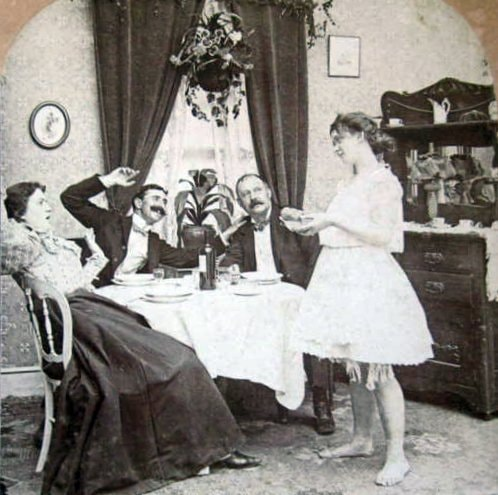Dining in the late 1800s