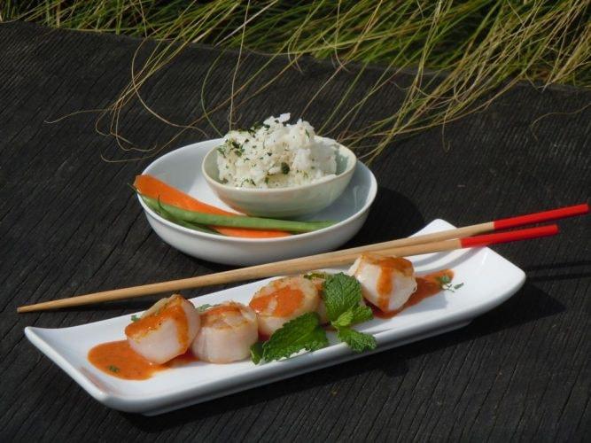 Escalopas Selladas con Curry Rojo Tailandesa